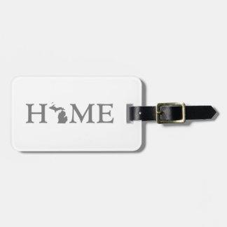 Michigan Home State Luggage Tag