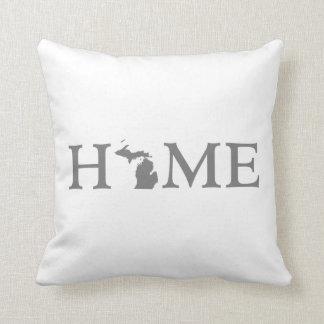 Michigan Home State Word Art Throw Pillow