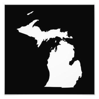 Michigan in White and Black Photo
