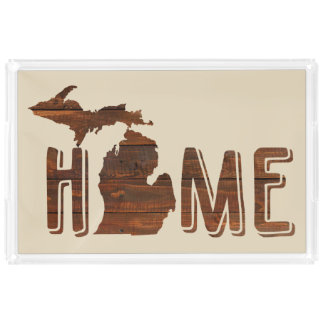 Michigan is Home | Wood Plank Look | Michigan Acrylic Tray