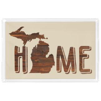 Michigan is Home   Wood Plank Look   Michigan Perfume Tray