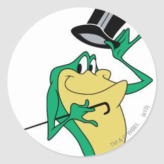 Michigan J. Frog in Color Round Sticker