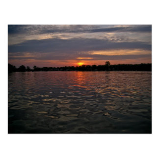 Michigan Lake Sunset Postcard