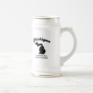 Michigan - Land of the free Home of the Buick Beer Stein