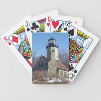 Michigan Lighthouse Bicycle Playing Cards