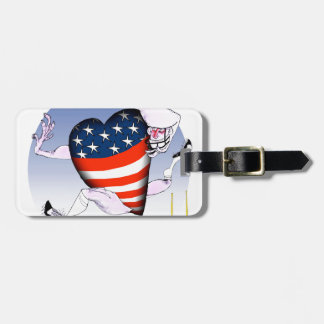 michigan loud and proud, tony fernandes luggage tag