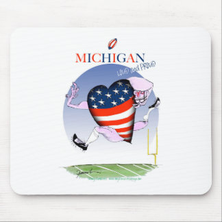 michigan loud and proud, tony fernandes mouse pad