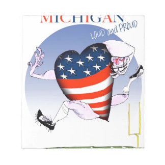 michigan loud and proud, tony fernandes notepad