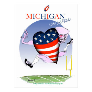 michigan loud and proud, tony fernandes postcard