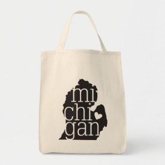 Michigan Love Grocery Tote Bag