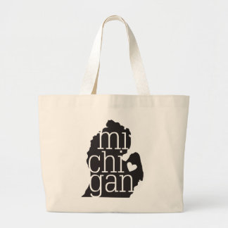 Michigan Love Jumbo Tote Bag