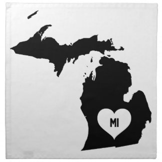 Michigan Love Napkin