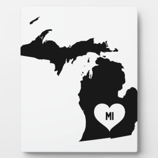 Michigan Love Plaque