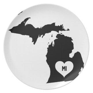 Michigan Love Plate