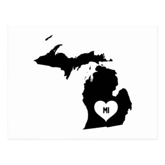 Michigan Love Postcard