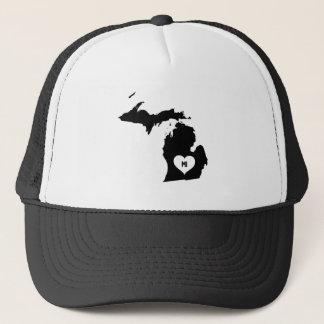 Michigan Love Trucker Hat
