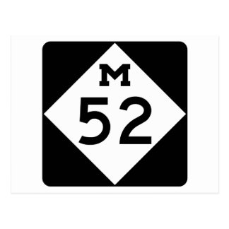 Michigan M-52 Postcard