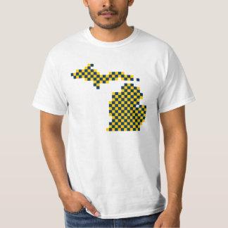 Michigan Maize and Blue Pixel Michigan T-Shirt