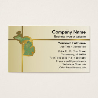 Michigan Map Business Card