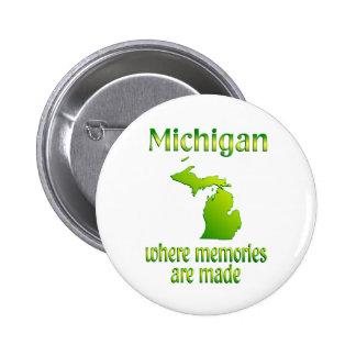 Michigan Memories 2 Inch Round Button