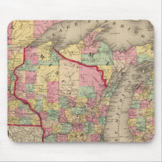 Michigan, Minnesota, and Wisconsin 2 Mouse Pad