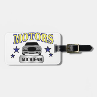 Michigan motors luggage tag