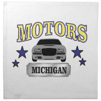 Michigan motors napkin