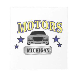 Michigan motors notepad