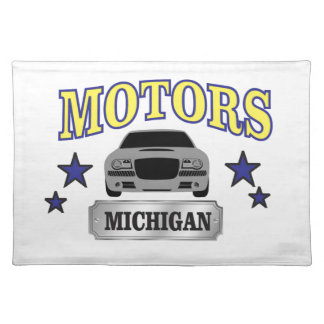 Michigan motors placemat