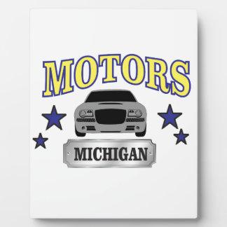 Michigan motors plaque