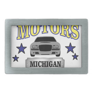 Michigan motors rectangular belt buckles