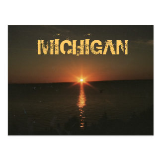 MICHIGAN NIGHT POSTCARD