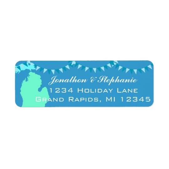 Michigan Pendant Map of Michigan Return Labels