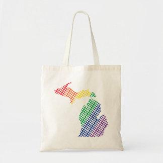 Michigan Rainbow State Tote Bag