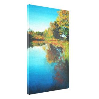 Michigan River Acrylic Painting | Canvas Print