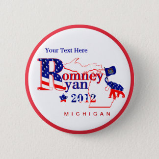 Michigan Romney and Ryan 2012 Button – Customize 2