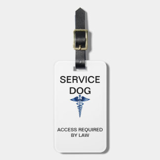 Michigan Service Dog ID With Laws on Back (Generic Luggage Tag