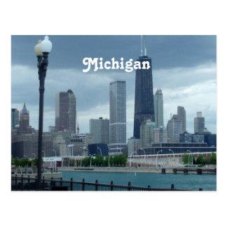 Michigan Skyline Postcard