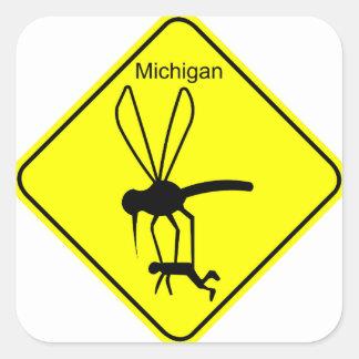 Michigan State Bird the Mosquito Square Sticker