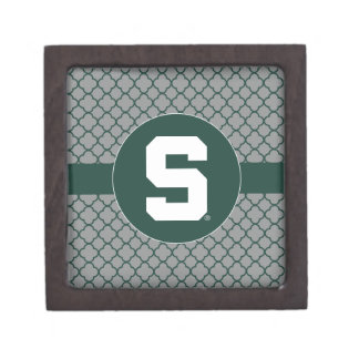 Michigan State Block S Premium Trinket Boxes