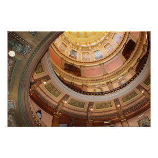 Michigan State Capital Dome Poster
