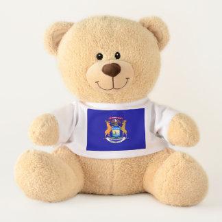 Michigan State Flag Teddy Bear