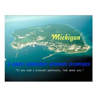 Michigan State Motto Postcard