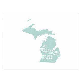 Michigan State Motto Slogan Postcard