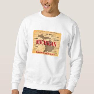 Michigan State Pride Map Silhouette Sweatshirt