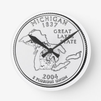 Michigan State Quarter Round Clock