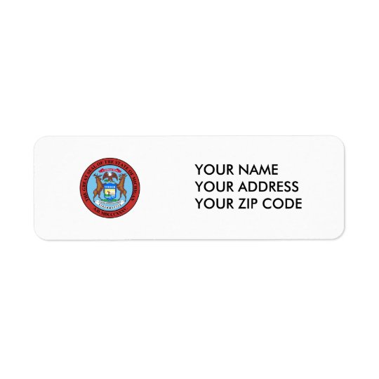 Michigan State Seal Return Address Label
