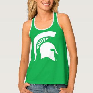 Michigan State Spartan Helmet Logo Tank Top