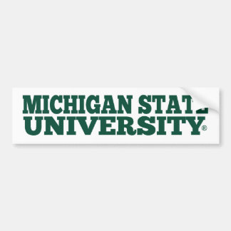 Michigan State University® Fan Bumper Sticker
