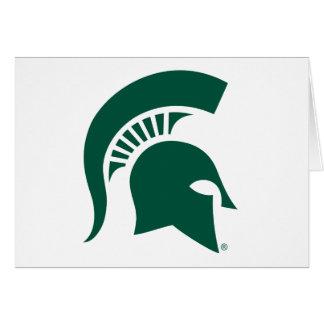 Michigan State University Spartan Helmet Logo Card